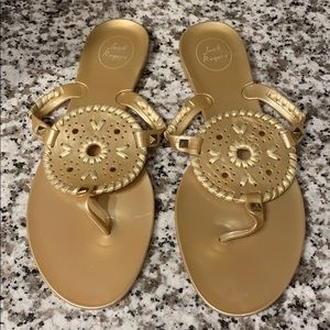 Gold Jack Rogers Jelly Sandals